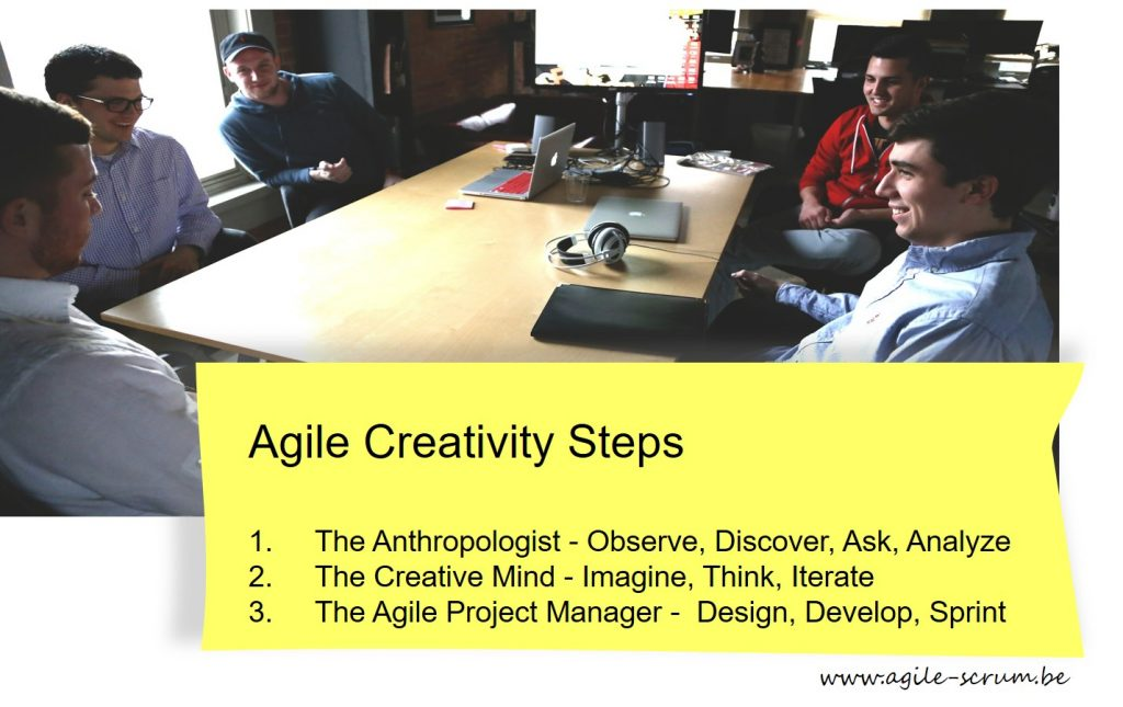 Agile Creativity and Project Management steps
