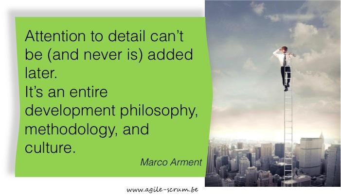 Quote Marco Arment agile scrum belgium